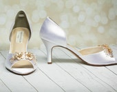 Rose Gold Wedding Shoes - Bespoke Wedding shoes - Custom Wedding Shoes - Rose Gold - Gold Shoes - Choose From Over 250 Colors - Parisxox
