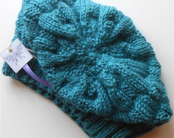 Oversize Knit Hat, Blue Slouchy Hats, Trendy Slouch Beanie, Knitted Unisex Beanies, Aqua Blue Oversized Hats