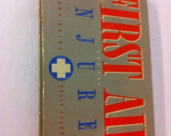 Vintage First Aid Injured Book and Handy Guide