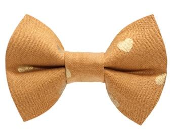 """Cat Bow Tie - """"The Golden Ticket"""" -  Golden Hearts"""