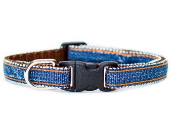 "Cat Collar - ""The Blue Collar"" - Denim"