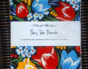 Fairy Tale Friends American Jane Patterns Charm Pack moda fabrics OOP HTF