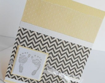 Baby & Expecting Cards: Handmade Blank Greeting Note Card - Ten Tiny Toes
