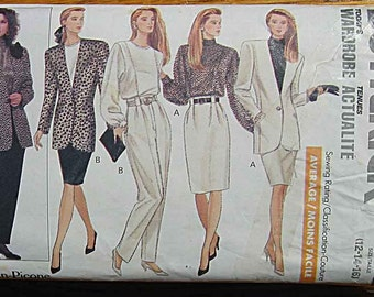 Misses' Evan-Picone Jacket, Blouse, Skirt and Pants, Suit Butterick 6712 Sewing Pattern Sizes 12-14-16