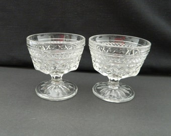 Wexford Anchor Hocking Sherbets / Dessert Dishes Qty Two