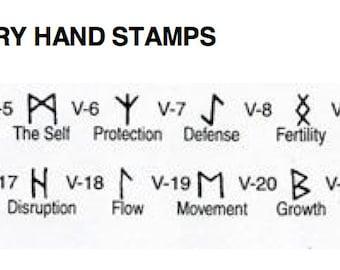 Single  Viking Symbols-5mm-Symbols - Design Stamps-Please verify stamps selected