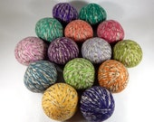 Wool Dryer Balls - Sherbet Tweed - Set of 14 Eco Friendly Alternative for Dryer Sheets