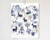 Whistling Goats, 11x14 print