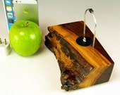 Walnut dock for any iPhone including 6 and 6 plus.. INCLUDES wall charger. 735. Stunning grain and color. Sustainably harvested.