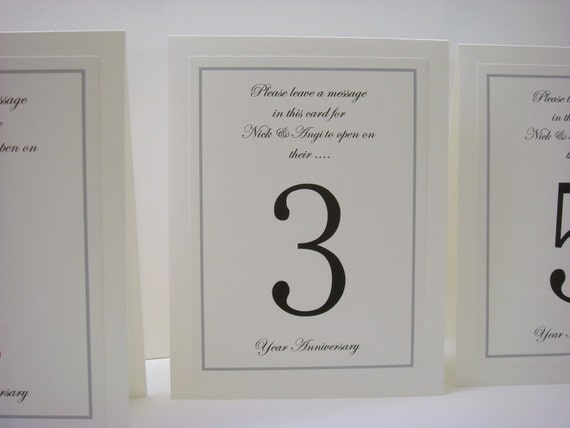 Anniversary Wedding Table Number For Your Guests to Write a Message to the Bride and Groom Inside