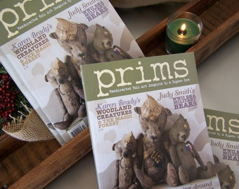 Prims Magazine Winter 2015 War Heroes Bears, Valentine, Easter Bunnies, Snow Babies Folk Art Creatures and MORE Inspiration SVF