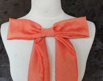 Cute orange  color chiffon bow applique