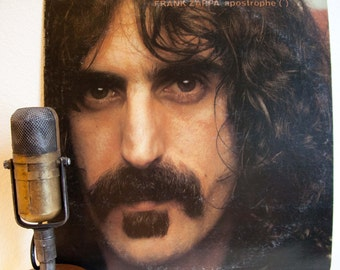 "ON SALE Frank Zappa Vinyl Record Album 1970s Avant Garde Rock Comedy Experimental George Duke ""Apostrophe"" (1974 Diskreet / WB Records)"