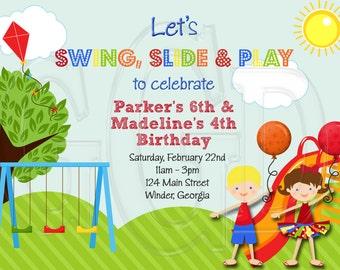 Playground Invitation-Digital File