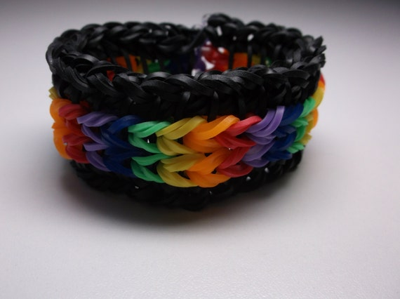 Rainbow Loom rubber band stretch bracelet Sailor's