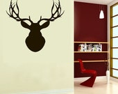 Cool Deer Reindeer ----Removable Graphic Art wall decals stickers home decor