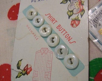charming white vintage buttons