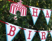 Circus Birthday Banner, Carnival Banner, Circus Garland, Carnival Garland, Photo Prop - MADE TO ORDER