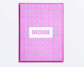 "Party | ""Mom!"" Letterpress Mother's Day Card"