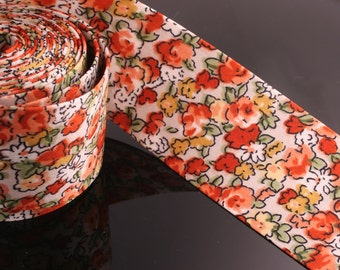 1YD-40mm Satin Ribbon Tape made of Specially Formulated Fabric,thin,soft but hold the shape-Orange(B301)