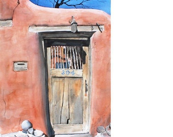 Delgado Gate - watercolor painting