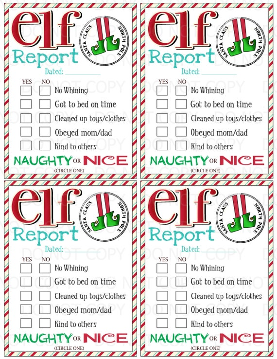 ... library official elf report printable elf on the shelf report template