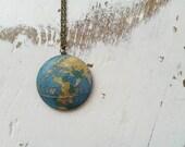 Wooden World Globe Necklace