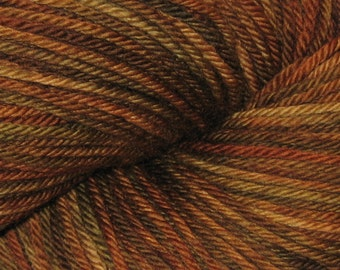Brown OOAK Perchance to Dream Worsted Merino Yarn Double Skein