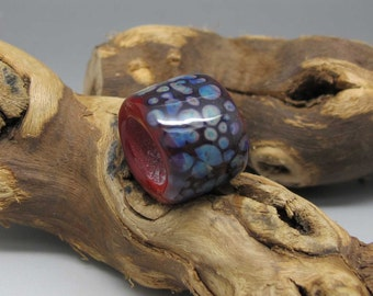 Large Hole Barrel Bead - Lampwork Focal Bead