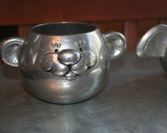 Sweet Wilton Armetale Smiling Bear Baby Cup Vintage Light Weight