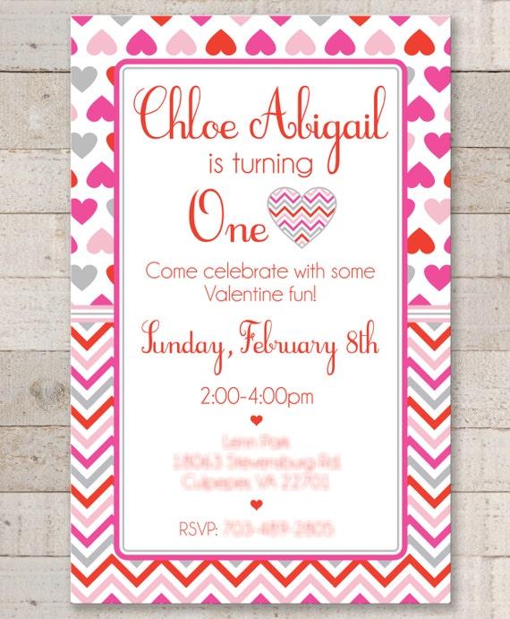Valentine Birthday Invitations Valentines Day Invitations