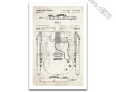 Gibson SG Electric Guitar Patent Art Giclee on archival matte paper