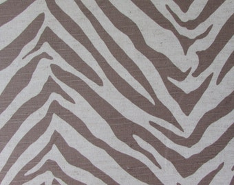 TIGRESS in earth  Linen cotton designer multipurpose fabric