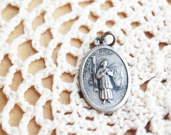 St Jean Baptiste Vianney, Cur de Ars, Religious Medal, Jewelry Pendant, Vintage