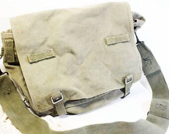 Army Rucksack, Shoulder Bag, Computer Bag, Vintage