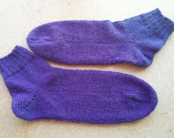 Women's Ankle Socks in Plum