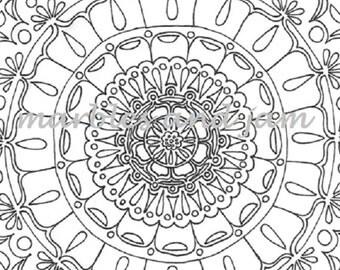 Mandala Printable Adult Coloring Page