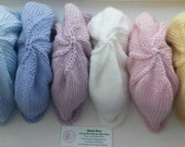 Baby Hats Hand Knitted Beanies in Luxury Merino-silk Wool Pastel Colours Beanie Style 0-3 Month Size