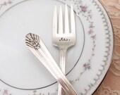 Mr. & Mrs. forks, imperial 1939, hand stamped cake forks for vintage weddings