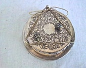 Vintage Silver Plate Repurpose Coaster Holder and Coaster Note Pad Home or Office Storage Organizer