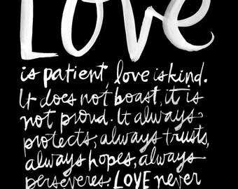 Corinthians Love Wall Art Print