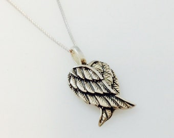 Sterling Silver Charms Pendant Angel Wings Solid 925 New