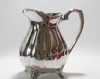 Vintage Sheffield Silver Plate Pitcher with Ice Guard by Cooper Bros & Sons Ltd