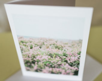 Fine Art Photography Greetings Card Yorkshire Heather
