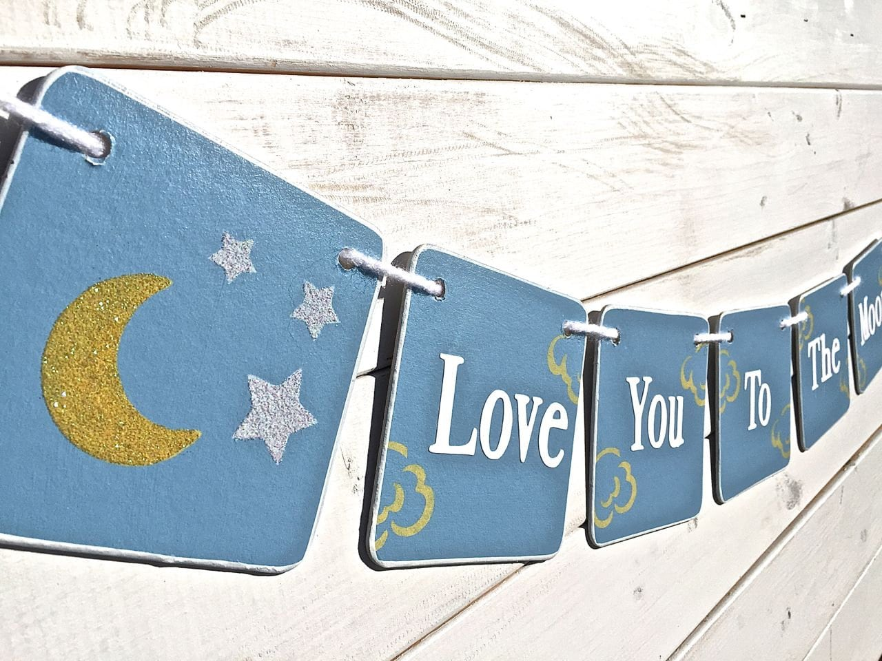 Baby Shower Banner Love You To The Moon And Back Moon And