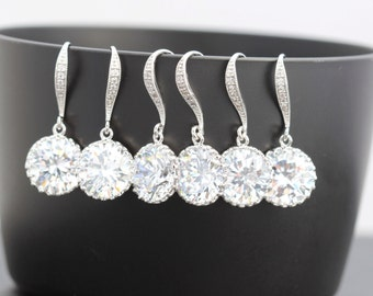 set of 4 bridesmaid earring bridal party earring set  4 bridesmaid gift