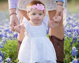 Flower Crown, Woodland Crown, Toddler Flower Crown, Baby Flower Crown