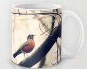 Art Coffee Cup Mug Robin Red Breast fine art photography home decor