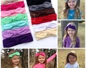 SALE- Knot Jersey Headband, Baby Knot Headband, Infant Headband, Jersey Knit Headwrap, Turban Headband,Girl's Knit Headband,Toddler Headwrap