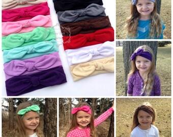 Knot Jersey Headband, Baby Knot Headband, Infant Headband, Jersey Knit Headwrap, Turban Headband,Girl's Knit Headband,Toddler Headwrap